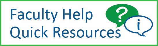 Faculty help resources